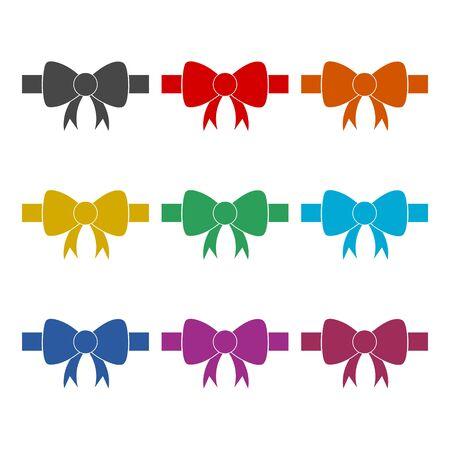 Bow icon, color icons set Stockfoto - 129236055
