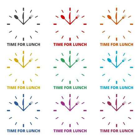 Time For Lunch icon, color icons set