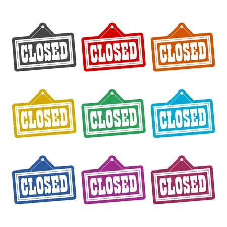 Closed Sign icon, color icons set