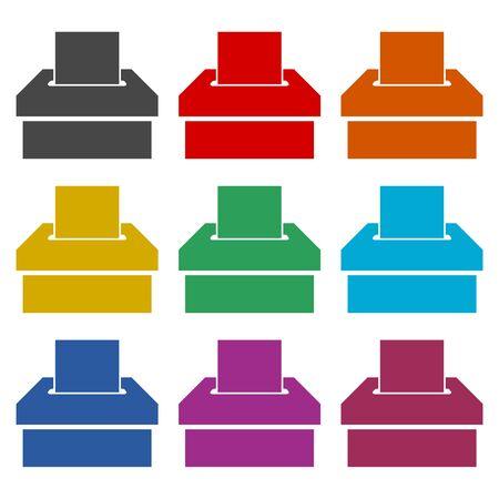 Voting icon, Vote concept, color icons set