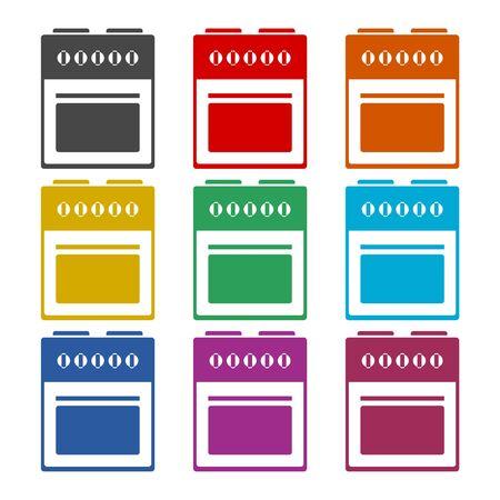 Oven icon, Stove Icon, color icons set