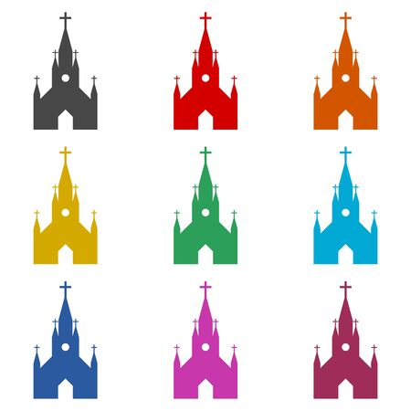 Church icon, color icons set