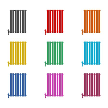 Central Heating Radiator icon, Heating radiator icon, color icons set 일러스트