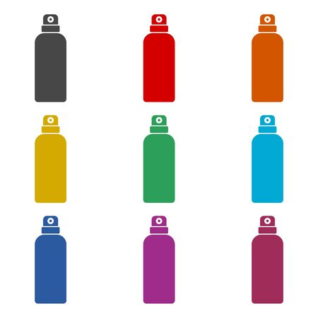 Spray icon, color icons set