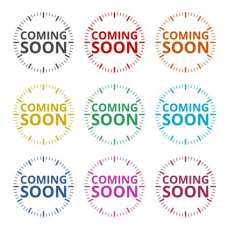 Coming Soon Sign icon, color icons set Иллюстрация
