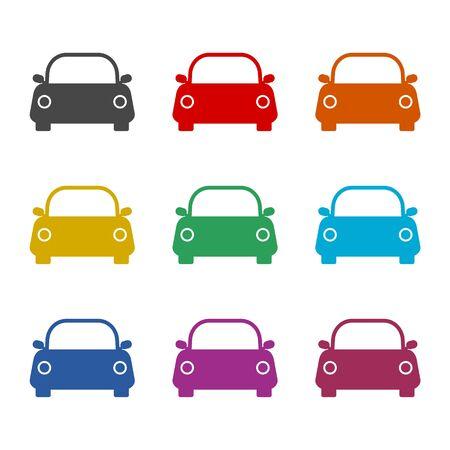 Car icon, color icons set