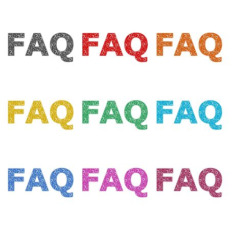 Frequently Asked Questions, FAQ icon, color icons set