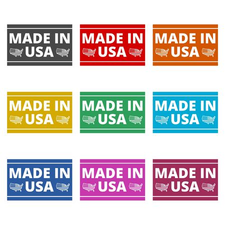 Made in USA icon, simple vector icon, color icons set
