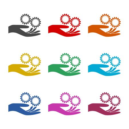 Service icon, Business Concept , Gears icon, color icons set