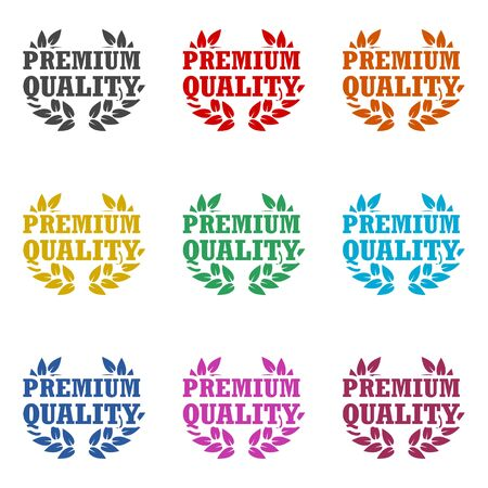 Premium quality icon, Premium quality label, color icons set Ilustrace
