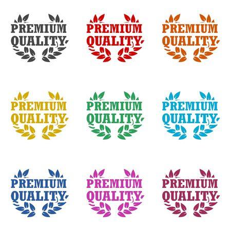 Premium quality icon, Premium quality label, color icons set Ilustração