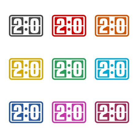 Scoreboard icon, color icons set