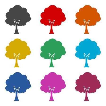 Tree icon, color icons set
