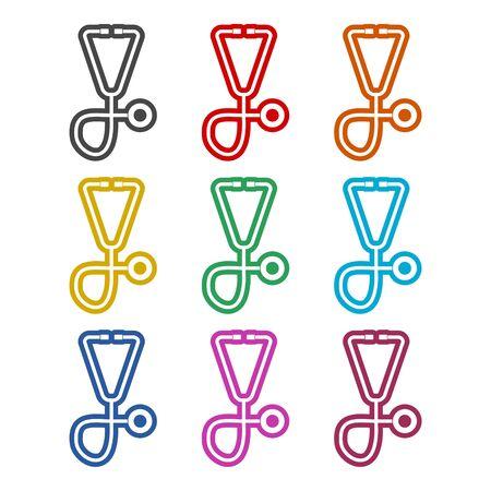 Stethoscope icon, color icons set Stock Illustratie