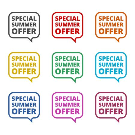 Special Summer Offer icon, color icons set