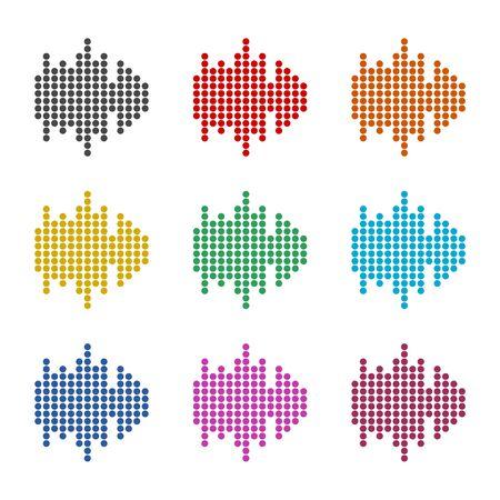 Audio wave icon, color icons set