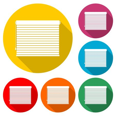 Louvers rolls icon, color icon with long shadow