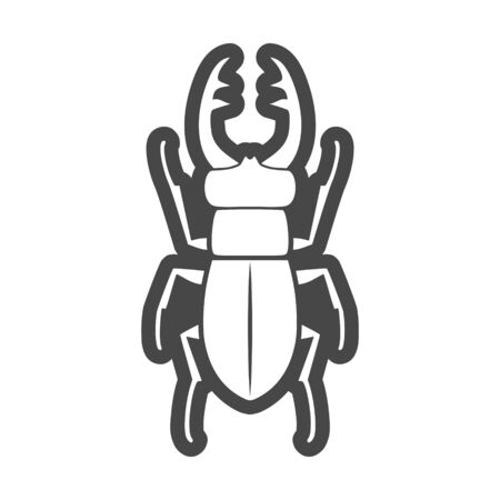 Stag beetle icon, deer beetle Stock Illustratie