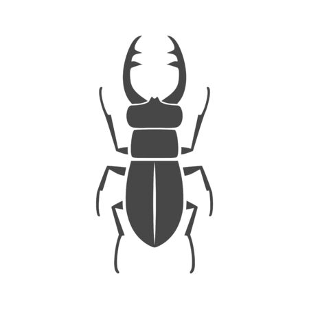 Stag beetle icon, deer beetle Zdjęcie Seryjne - 132098126