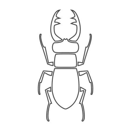 Stag beetle icon, deer beetle Zdjęcie Seryjne - 132098131