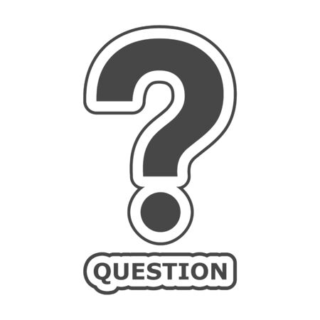 Question sign on white background