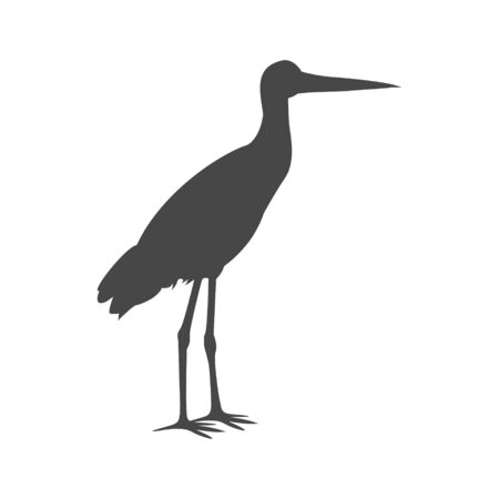 Stork icon Illustration