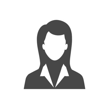 Business Woman Icon, simple vector icon