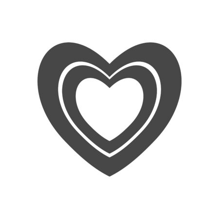 Black heart icon, Heart sign