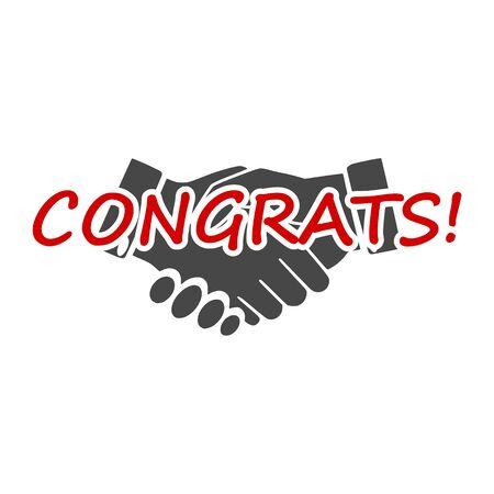 Congrats sign, Congrats icon