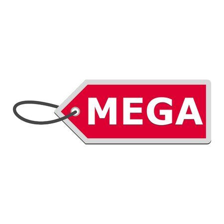 Mega price Tags, simple vector illustration Vettoriali