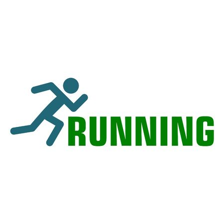 Let's run together, Running icon sign