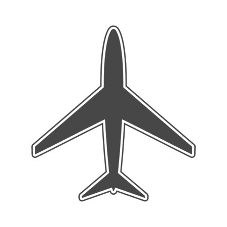 Plane and airplane icon