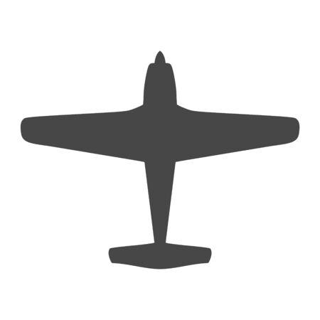 Flugzeug- und Flugzeugsymbol Vektorgrafik