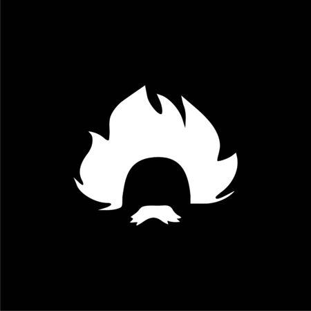 Einstein icon, Professor, scientist logo Illustration