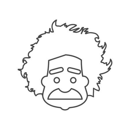 Einstein icon, Professor, scientist logo Illusztráció
