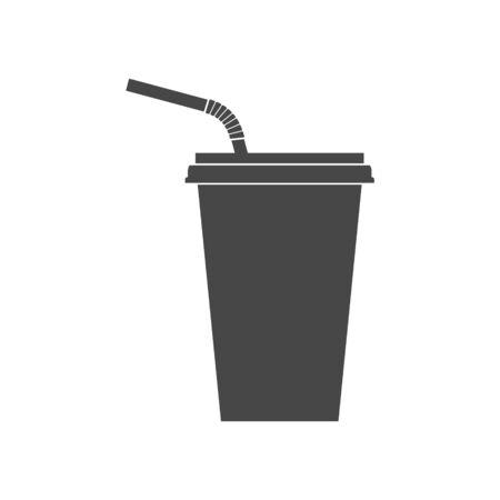 Drinking straw icon logo