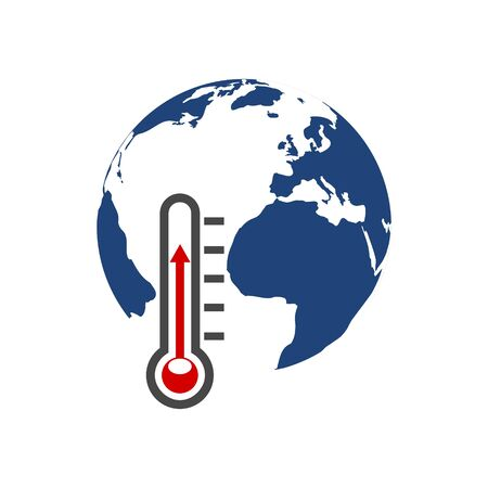 Global Warming Thermometer icon