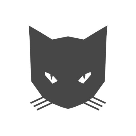 Black Cat Logo icon Standard-Bild - 133334963