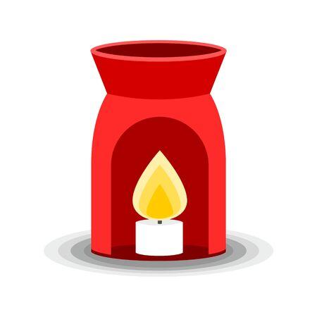 Aroma lamp icon, Simple Vector illustration Ilustracja