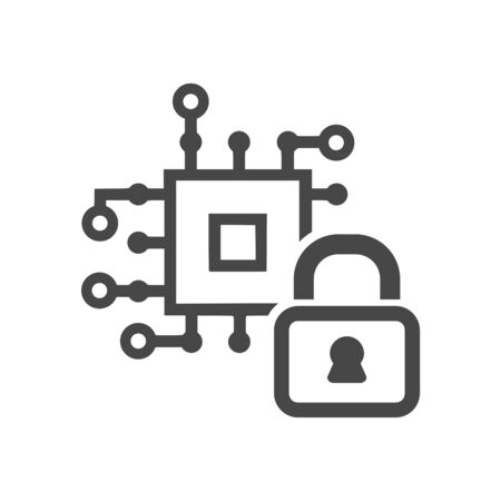 Internet security online, Technology security icon