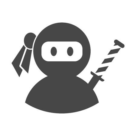 Ninja icon, samurai logo
