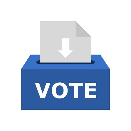 Voting box vector illustration with inserting paper sheet, Ballot Box icon