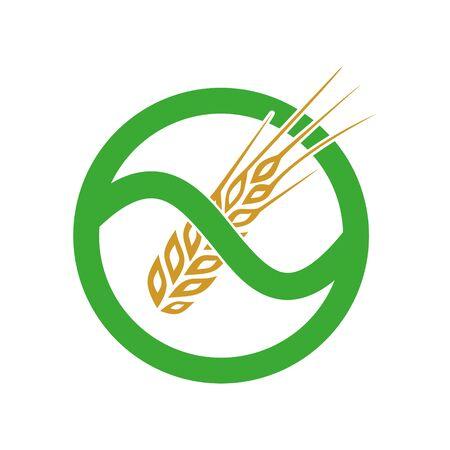 Gluten free icon, simple sign