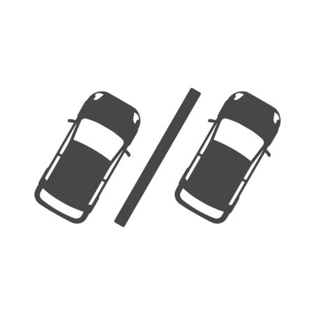 Cars in the parking lot, Parking icon
