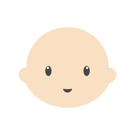 Cute baby vector illustration, baby face icon