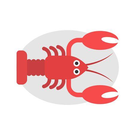 Vector illustration of a lobster, Lobster icon