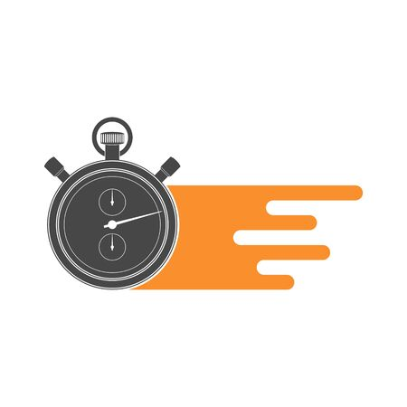 Fast delivery flat icon, Speed Time Icon
