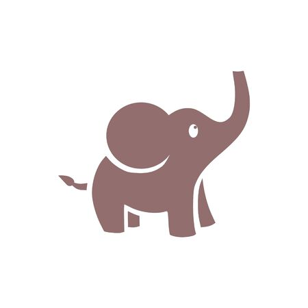 Cute little one, baby elephant icon