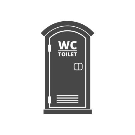 Portable toilet icon, eco toilet concept