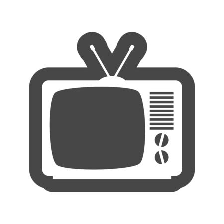 Retro TV set isolated on white background Illusztráció